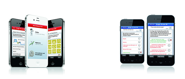 Multimediale Vorbereitung auf die Prüfung mit Smartphone-App