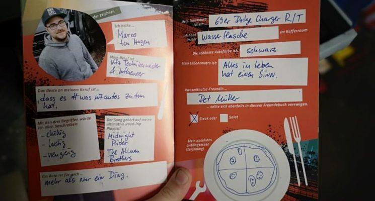 Das neue #wasmitautos Freundebuch